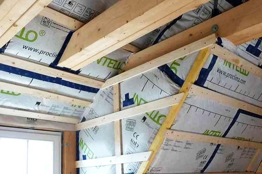Dachdämmung im Neubau, perfekt