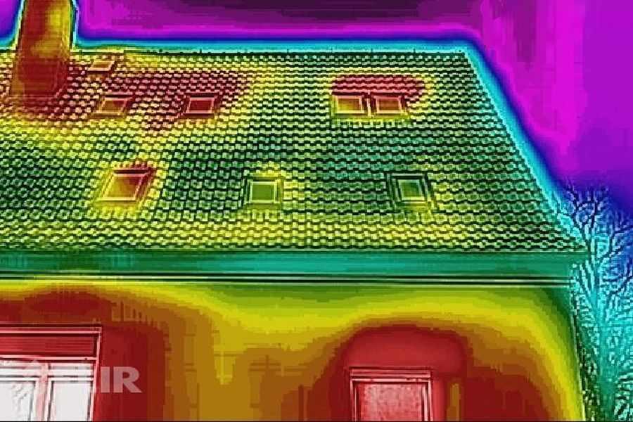 Wärmelecks im Dach